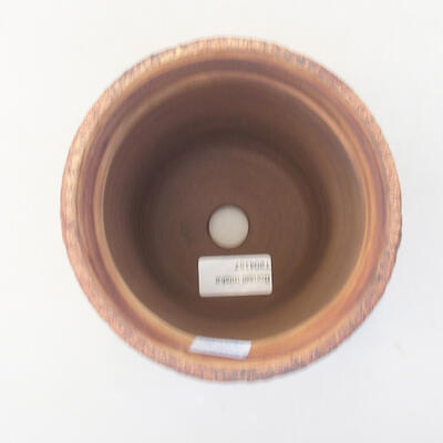 Ceramic bonsai bowl 13 x 13 x 14 cm, gray color - 3