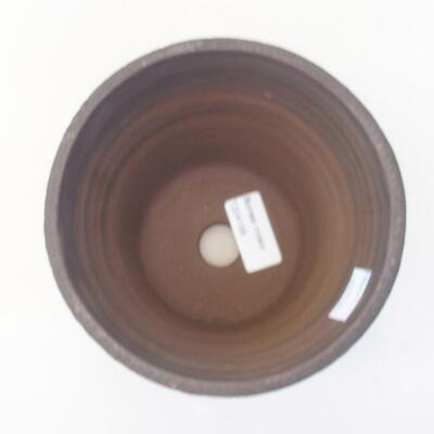 Ceramic bonsai bowl 14 x 14 x 13 cm, gray color - 3