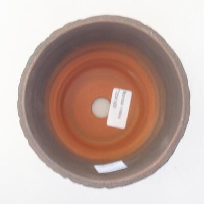 Ceramic bonsai bowl 12.5 x 12.5 x 13.5 cm, color green - 3