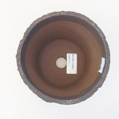 Ceramic bonsai bowl 13 x 13 x 13 cm, gray color - 3