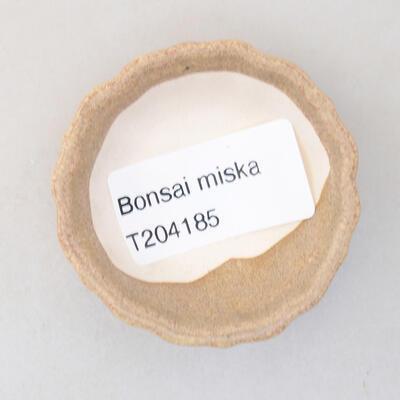 Mini bonsai bowl 5 x 5 x 1.5 cm, beige color - 3