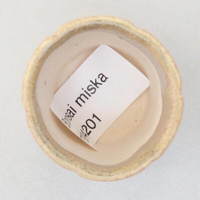 Mini bonsai bowl 3.5 x 3.5 x 4 cm, beige color - 3