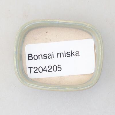 Mini bonsai bowl 4.5 x 3.5 x 1.5 cm, color blue - 3