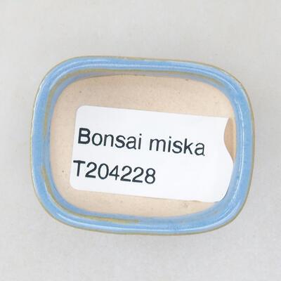 Mini bonsai bowl 4 x 3.5 x 1.5 cm, color blue - 3