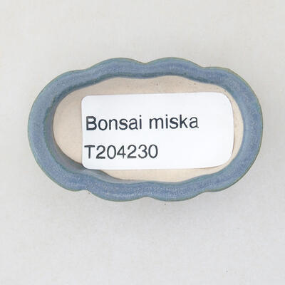Mini bonsai bowl 5 x 3 x 1.5 cm, color blue - 3