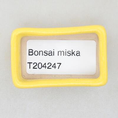 Mini bonsai bowl 4.5 x 2.5 x 1.5 cm, yellow color - 3