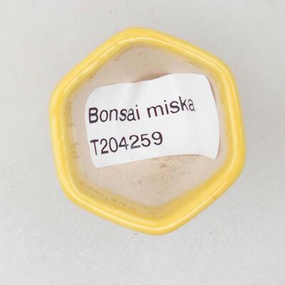 Mini bonsai bowl 3.5 x 3.5 x 3 cm, yellow color - 3