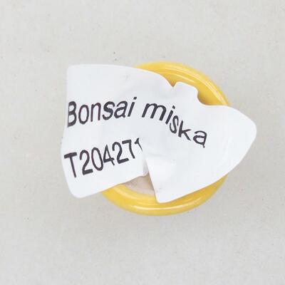 Mini bonsai bowl 2 x 2 x 1.5 cm, color yellow - 3