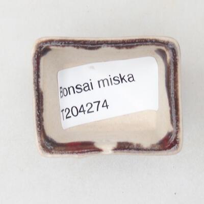 Mini bonsai bowl 4 x 3 x 2.5 cm, color red - 3