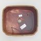 Ceramic bonsai bowl 20.5 x 17.5 x 6 cm, brown color - 3/3