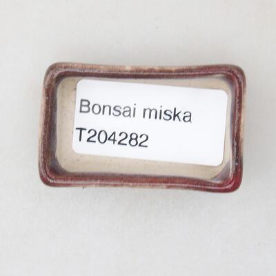 Mini bonsai bowl 4.5 x 3 x 1.5 cm, color red - 3
