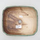 Ceramic bonsai bowl 20.5 x 17.5 x 6 cm, color brown-green - 3/3