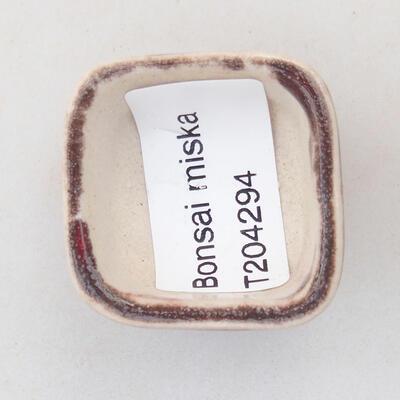 Mini bonsai bowl 3.5 x 3.5 x 2.5 cm, color red - 3