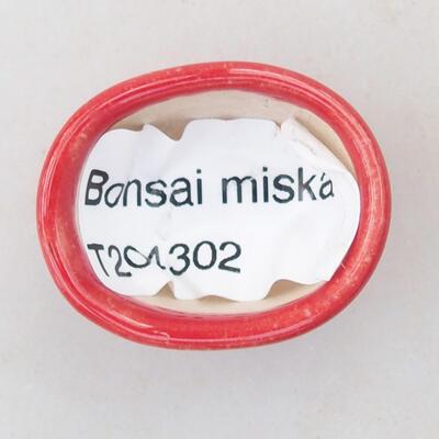 Mini bonsai bowl 3 x 2.5 x 1.5 cm, color red - 3