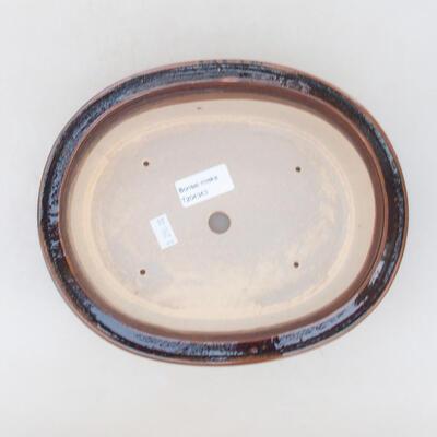 Ceramic bonsai bowl 22 x 18 x 7.5 cm, brown color - 3