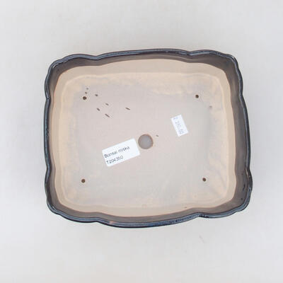 Ceramic bonsai bowl 19.5 x 16.5 x 7 cm, color black - 3