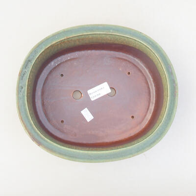 Ceramic bonsai bowl 24 x 20 x 7.5 cm, color green - 3