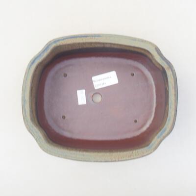 Ceramic bonsai bowl 20.5 x 16.5 x 7 cm, gray color - 3