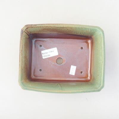 Ceramic bonsai bowl 17.5 x 14 x 7 cm, color green - 3