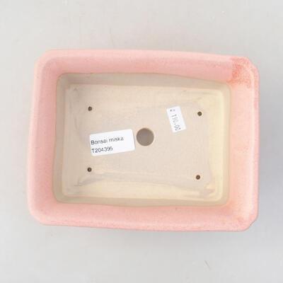 Ceramic bonsai bowl 17.5 x 14 x 7 cm, color pink - 3