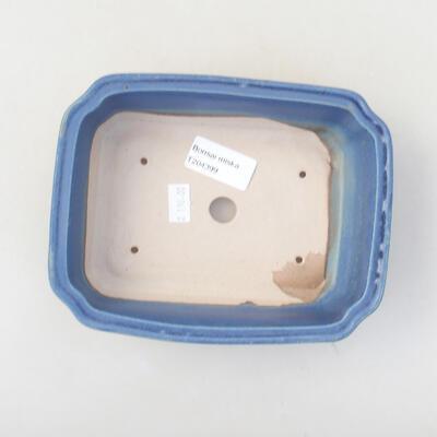 Ceramic bonsai bowl 17 x 13.5 x 4.5 cm, color blue - 3