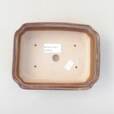 Ceramic bonsai bowl 17 x 13.5 x 4.5 cm, brown color - 3
