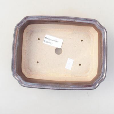 Ceramic bonsai bowl 17 x 13 x 7 cm, color brown - 3