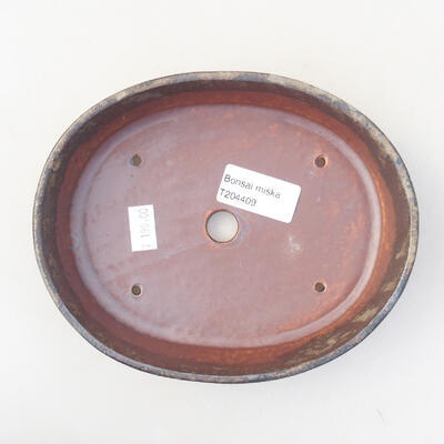Ceramic bonsai bowl 17 x 14 x 4 cm, color gray - 3
