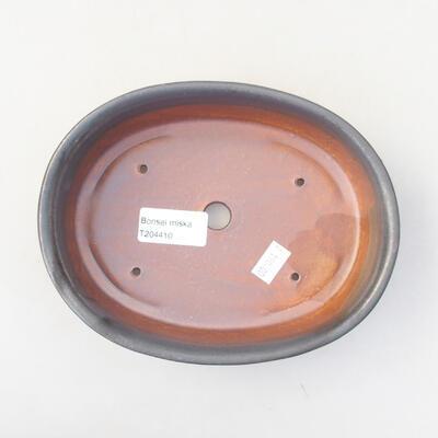 Ceramic bonsai bowl 18 x 14 x 4.5 cm, gray color - 3