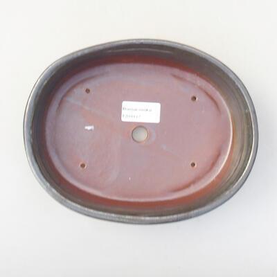 Ceramic bonsai bowl 21 x 16.5 x 4.5 cm, color green - 3
