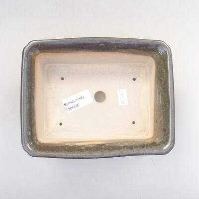 Ceramic bonsai bowl 17.5 x 14 x 6.5 cm, color green - 3