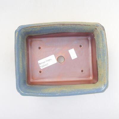 Ceramic bonsai bowl 17.5 x 14 x 6.5 cm, color blue - 3