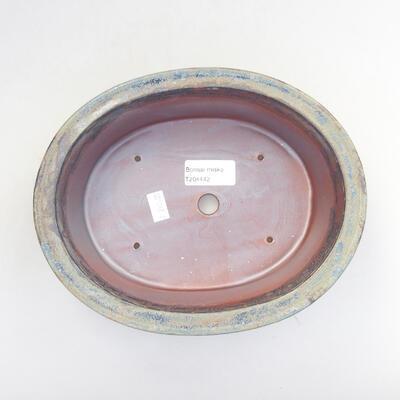Ceramic bonsai bowl 22 x 17 x 6 cm, color gray - 3