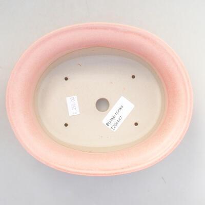 Ceramic bonsai bowl 21.5 x 17 x 6 cm, color pink - 3