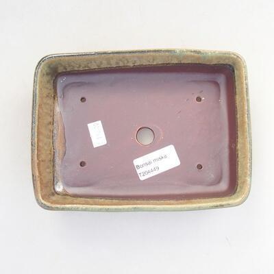 Ceramic bonsai bowl 18 x 13 x 4.5 cm, color green - 3