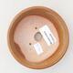 Ceramic bonsai bowl 10.5 x 10.5 x 4 cm, brown color - 3/3