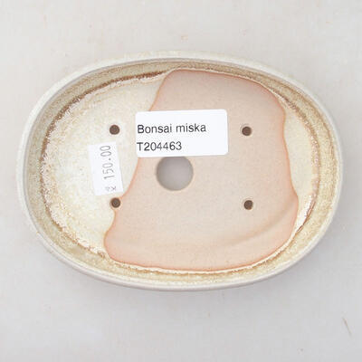 Ceramic bonsai bowl 13 x 9 x 2.5 cm, beige color - 3