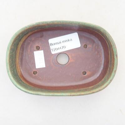 Ceramic bonsai bowl 12.5 x 9 x 3.5 cm, color green - 3