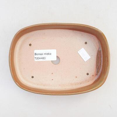 Ceramic bonsai bowl 15.5 x 10.5 x 3 cm, brown color - 3