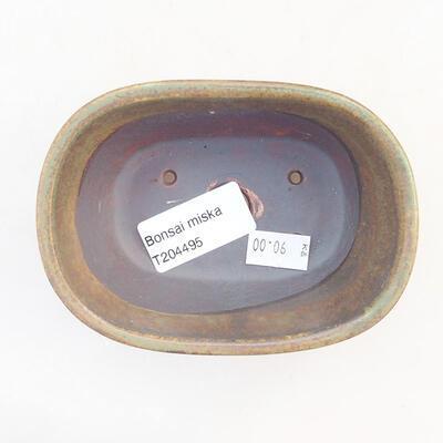 Ceramic bonsai bowl 11.5 x 8 x 5 cm, color green - 3