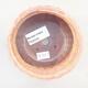 Ceramic bonsai bowl 10.5 x 10.5 x 4.5 cm, color pink - 3/3
