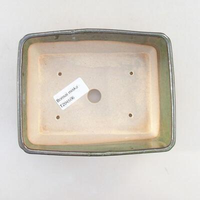 Ceramic bonsai bowl 15.5 x 12.5 x 6 cm, color green - 3