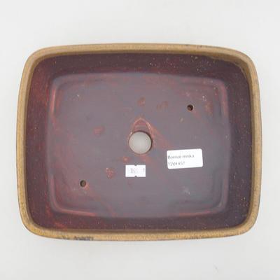 Ceramic bonsai bowl 23.5 x 19 x 5.5 cm, brown color - 3
