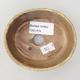 Ceramic bonsai bowl 10 x 8.5 x 3.5 cm, color brown-yellow - 3/3
