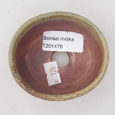 Ceramic bonsai bowl 8 x 7 x 4 cm, color brown-green - 3