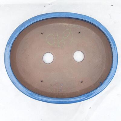 Bonsai bowl 38 x 31 x 5 cm, color blue - 3