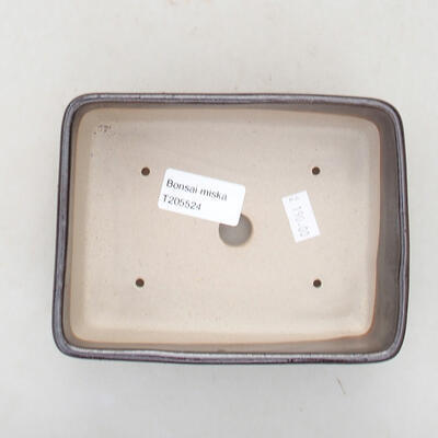 Ceramic bonsai bowl 15 x 10.5 x 5 cm, brown color - 3