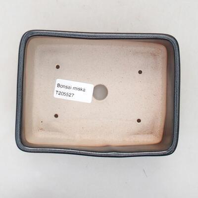 Ceramic bonsai bowl 15 x 10.5 x 5 cm, gray color - 3