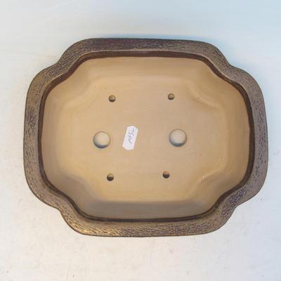 Bonsai ceramic bowl CEJ 53, brown - 3