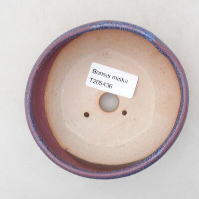 Ceramic bonsai bowl 10.5 x 10.5 x 4 cm, color purple - 3